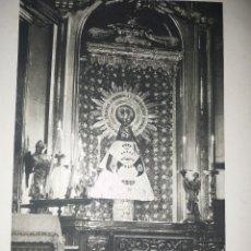 Arte: VIRGEN DEL PILAR CON MANTO DE YUGO Y LAS FLECHAS ORIGINAL AÑOS 40 57X38. Lote 98584347