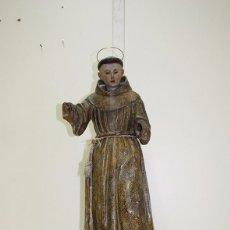 Arte: TALLA DE MADERA RELIGIOSA SIGLO XVIII SAN ANTONIO. Lote 98631951
