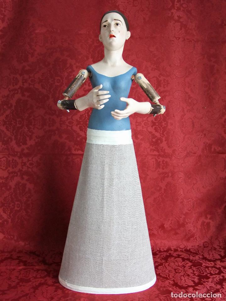 Arte: Virgen dolorosa de vestir, de candelero - Foto 7 - 97723459