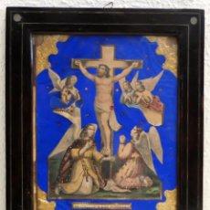 Arte: EL CRISTO DE LOS ANGELES. COMPOSICION RELIGIOSA DEL SIGLO XIX. Lote 98760519