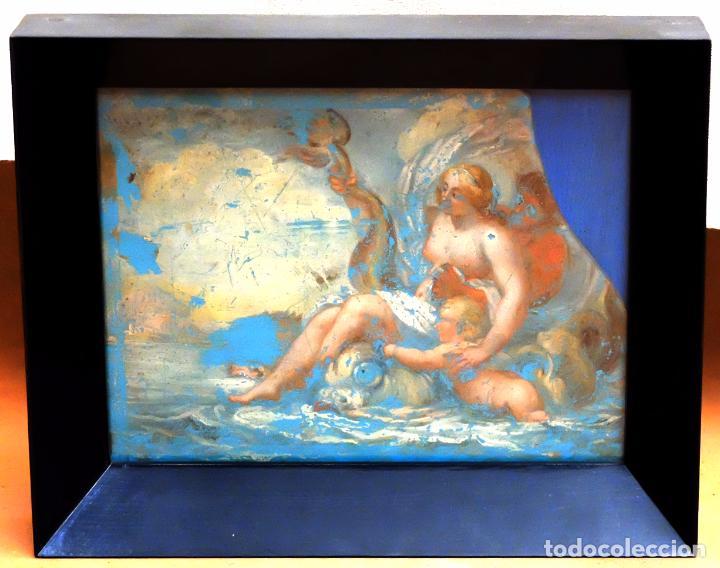 ESCUELA ITALIANA DEL SIGLO XVIII. PINTURA DE TEMA RELIGIOSO PINTADA BAJO VIDRIO (Arte - Arte Religioso - Pintura Religiosa - Otros)