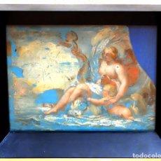 Arte: ESCUELA ITALIANA DEL SIGLO XVIII. PINTURA DE TEMA RELIGIOSO PINTADA BAJO VIDRIO. Lote 98762171
