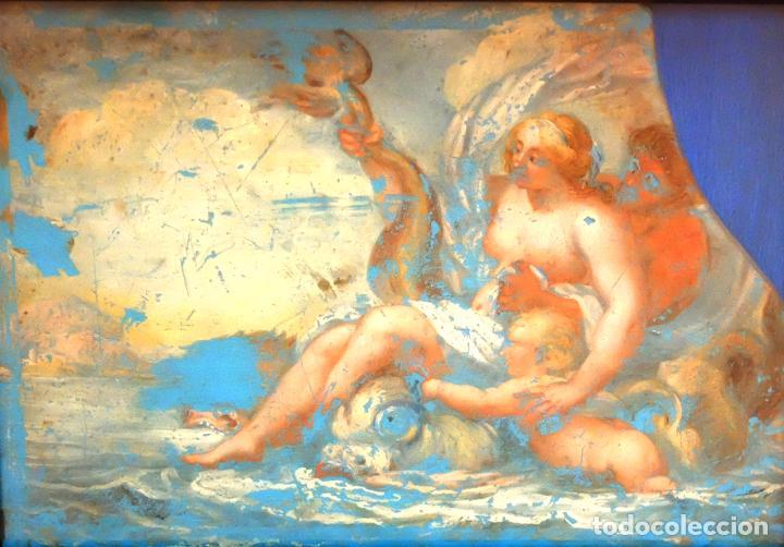 Arte: ESCUELA ITALIANA DEL SIGLO XVIII. PINTURA DE TEMA RELIGIOSO PINTADA BAJO VIDRIO - Foto 2 - 98762171