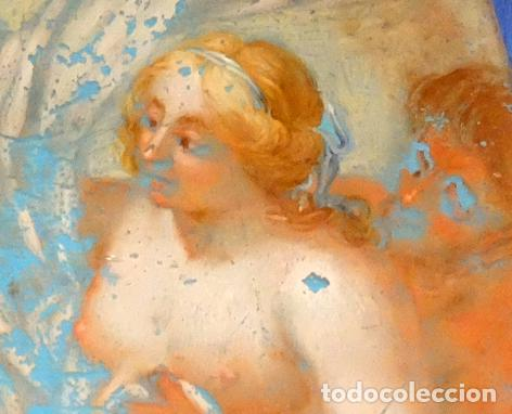 Arte: ESCUELA ITALIANA DEL SIGLO XVIII. PINTURA DE TEMA RELIGIOSO PINTADA BAJO VIDRIO - Foto 3 - 98762171
