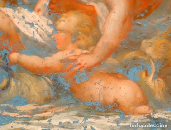 Arte: ESCUELA ITALIANA DEL SIGLO XVIII. PINTURA DE TEMA RELIGIOSO PINTADA BAJO VIDRIO - Foto 5 - 98762171