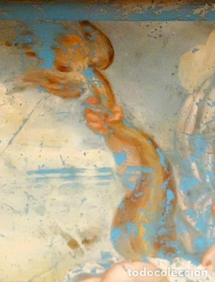 Arte: ESCUELA ITALIANA DEL SIGLO XVIII. PINTURA DE TEMA RELIGIOSO PINTADA BAJO VIDRIO - Foto 6 - 98762171