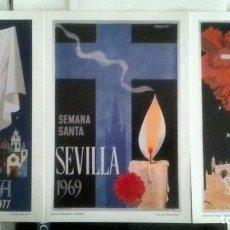 Arte: CARTELES DEL SIGLO XX SEMANA SANTA SEVILLA AÑOS 50/60/70/80 . Lote 98823167