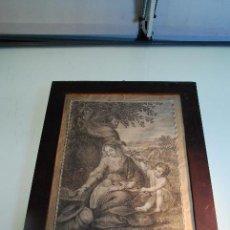 Arte: GRABADO RELIGIOSO EL DESCANSO EN EGIPTO - PINTADO POR FEDERICO BARROCIO - DIB. Y GRAB. M.S. CARMONA . Lote 98922479