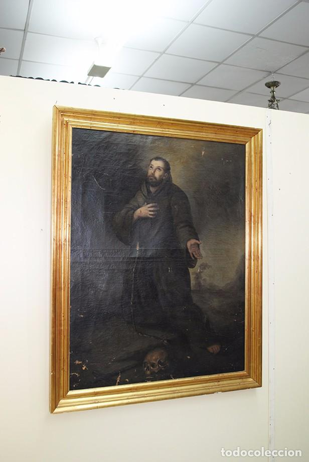 ÓLEO SAN FRANCISCO SIGLO XIX (Arte - Arte Religioso - Pintura Religiosa - Oleo)