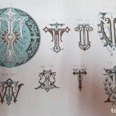 Arte: MASRIERA - 1883 - CATÁLOGO - CIFRAS DECORATIVAS PARA ARTES E INDUSTRIAS. Lote 99105087