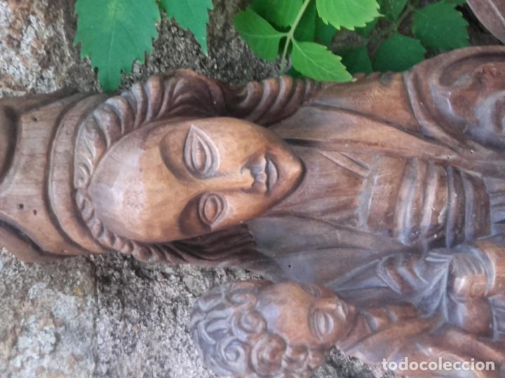 Arte: Virgen madera tallada - Foto 17 - 56227490