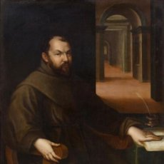 Arte: LAVINIA FONTANA PORTRAIT OF FRA FRANCESCO PANIGAROLA 1586 SIGNED AND DATED OIL ON CANVAS. Lote 164827130