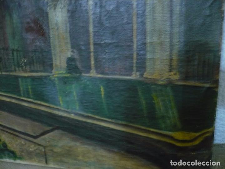 Arte: INTERIOR DE CATEDRAL OLEO / LIENZO SIGLO XX 45,5 CM X 37,5 CM - Foto 4 - 99189611