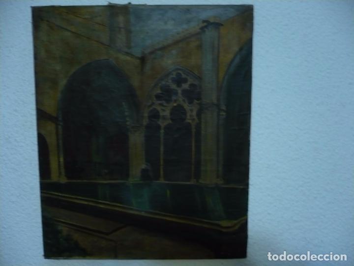 Arte: INTERIOR DE CATEDRAL OLEO / LIENZO SIGLO XX 45,5 CM X 37,5 CM - Foto 6 - 99189611