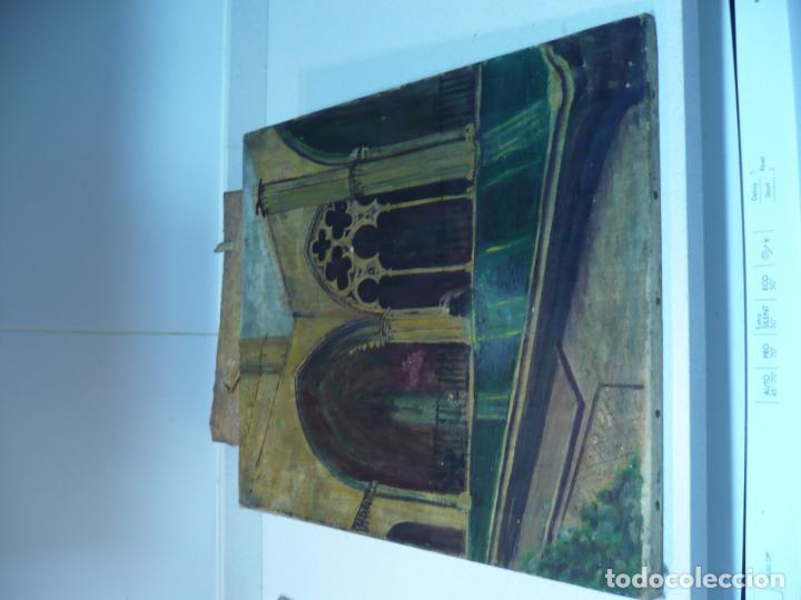 Arte: INTERIOR DE CATEDRAL OLEO / LIENZO SIGLO XX 45,5 CM X 37,5 CM - Foto 8 - 99189611