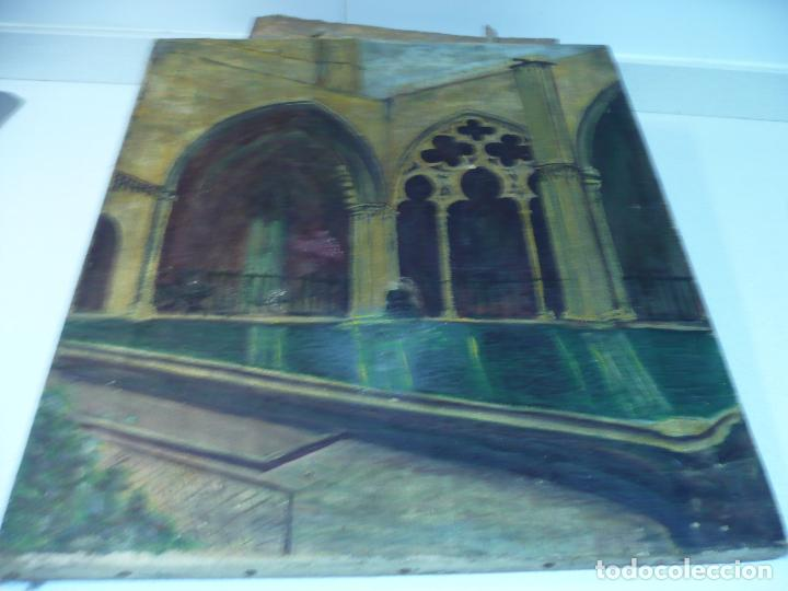 Arte: INTERIOR DE CATEDRAL OLEO / LIENZO SIGLO XX 45,5 CM X 37,5 CM - Foto 9 - 99189611