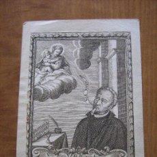 Arte: GRABADO V.P.D. MICHAELIS SAURINA - VALENCIA - FECHADO 1698 - PEGADO SOBRE PAPEL 21X16 CM. Lote 99200443