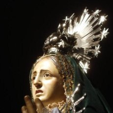 Arte: ESCUELA ESPAÑOLA VIRGEN DE LA SOLEDAD EN EL CALVARIO SXIX TALLA DE MADERA. Lote 99240335