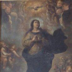 Arte: VIRGEN INMACULADA.OLEO SOBRE LIENZO. MEDIDAS DE 142 X 99 CM. ESCUELA ESPAÑOLA SIGLOS XVII-XVIII. . Lote 105744015