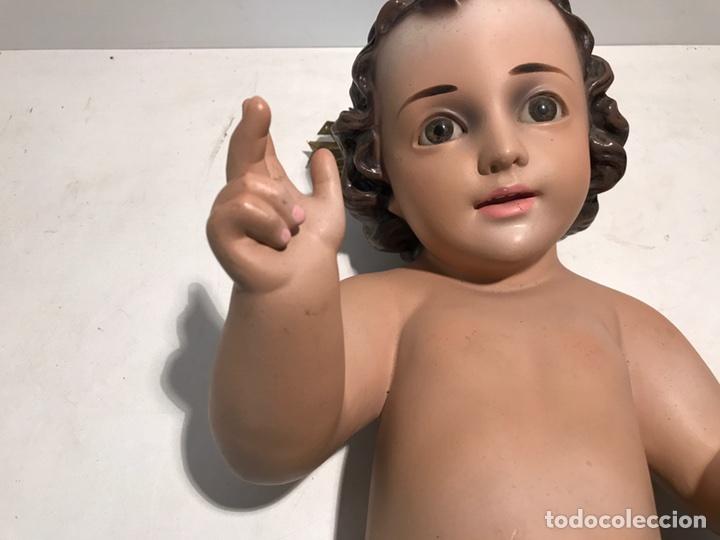 Arte: NIÑO JESUS DE CUNA GRANDE DE 43CM LARGO. MODELO OLOT, - Foto 3 - 99365667