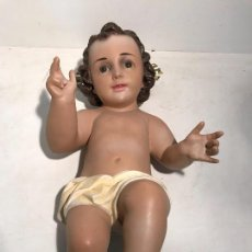 Arte: NIÑO JESUS DE CUNA GRANDE DE 43CM LARGO. MODELO OLOT,. Lote 99365667