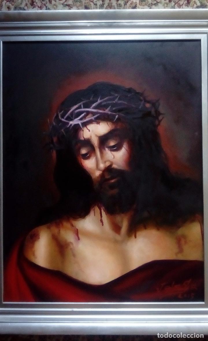 ECCE HOMO DE JOLOGA. 65X54. CON MARCO INCLUIDO. NUEVAS FOTOS. (Arte - Arte Religioso - Pintura Religiosa - Oleo)