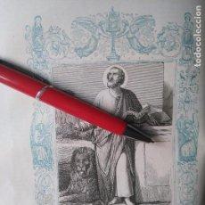 Arte: KK - GRABADO ORIGINAL DEL AÑO 1851 - RELIGIOSO - , SAN LUCAS EVANGELISTA. Lote 99427171