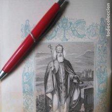 Arte: KK - GRABADO ORIGINAL DEL AÑO 1851 - RELIGIOSO - SAN CLEMENTE , PAPA Y MARTIR. Lote 99430347