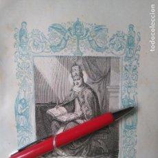 Arte: KK - GRABADO ORIGINAL DEL AÑO 1851 - RELIGIOSO - SAN GREGORIO III PAPA Y CONFESOR. Lote 99430671