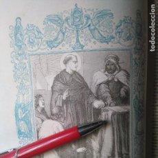 Arte: KK - GRABADO ORIGINAL DEL AÑO 1851 - RELIGIOSO - SANTO DOMINGO DE SILOS ABAD Y CONFESOR. Lote 99432543
