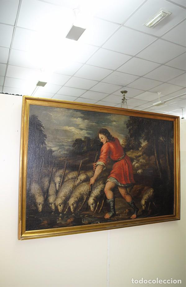 ÓLEO SOBRE LIENZO SIGLO XVII - ESCENA DEL HIJO PRÓDIGO (Arte - Arte Religioso - Pintura Religiosa - Oleo)