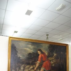Arte: ÓLEO SOBRE LIENZO SIGLO XVII - ESCENA DEL HIJO PRÓDIGO. Lote 99544999