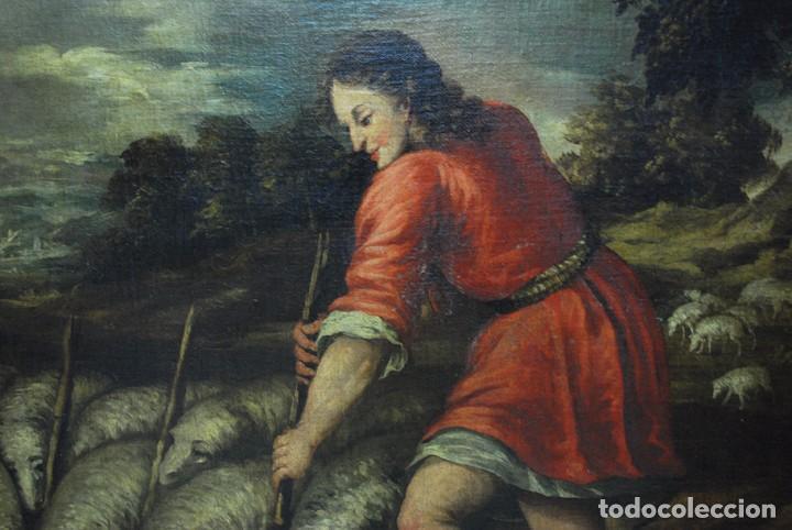 Arte: ÓLEO SOBRE LIENZO SIGLO XVII - ESCENA DEL HIJO PRÓDIGO - Foto 7 - 99544999