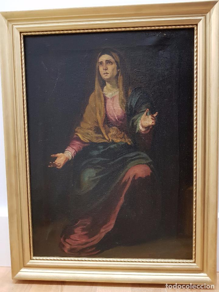 COPIA ANTIGUA DE LA DOLOROSA DE MURILLO (Arte - Arte Religioso - Pintura Religiosa - Oleo)