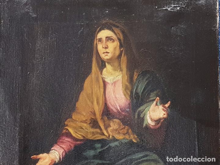 Arte: Copia antigua de la Dolorosa de Murillo - Foto 7 - 98811567