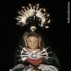 Arte: VIRGEN DE LOS DOLORES 1M25CM ESCUELA ESPAÑOLA EN EL CALVARIO SXIX TALLA DE MADERA. Lote 99576291