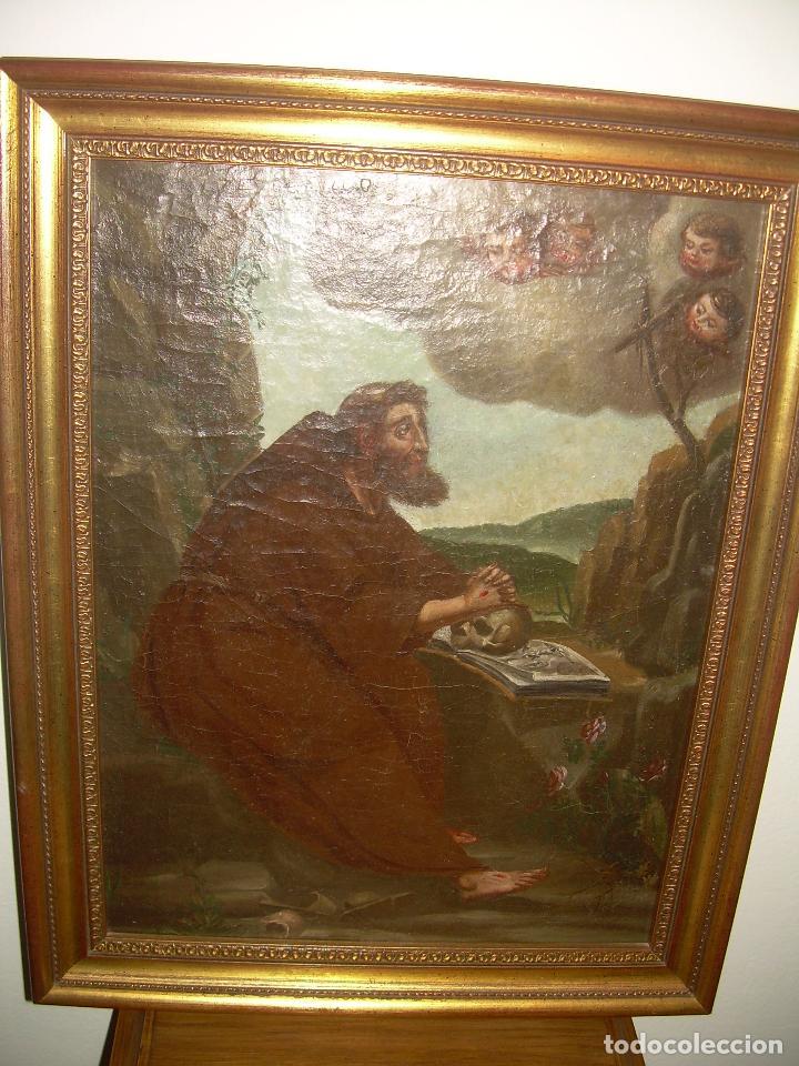 Arte: OLEO SOBRE LIENZO ANONIMO SIGLO XVIII..... SAN FRANCISCO ESCUELA ESPAÑOLA - Foto 9 - 99668423