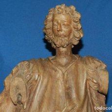 Arte: (M) SAN MARCOS , TALLA DE MADERA S.XVIII MADERA NOGAL , 67 CM DE ALTURA , VER FOTOGRAFIAS . Lote 99680447
