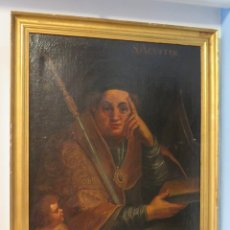 Arte: INTERESANTE SAN AGUSTIN. OLEO S/ LIENZO. MARCO DE EPOCA. SIGLO XVII-XVIII. Lote 99713391