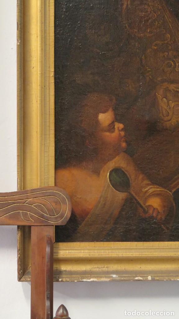 Arte: INTERESANTE SAN AGUSTIN. OLEO S/ LIENZO. MARCO DE EPOCA. SIGLO XVII-XVIII - Foto 3 - 99713391