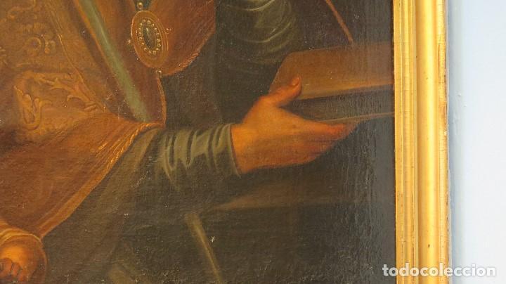 Arte: INTERESANTE SAN AGUSTIN. OLEO S/ LIENZO. MARCO DE EPOCA. SIGLO XVII-XVIII - Foto 4 - 99713391