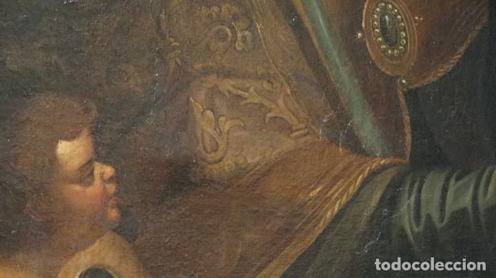 Arte: INTERESANTE SAN AGUSTIN. OLEO S/ LIENZO. MARCO DE EPOCA. SIGLO XVII-XVIII - Foto 6 - 99713391