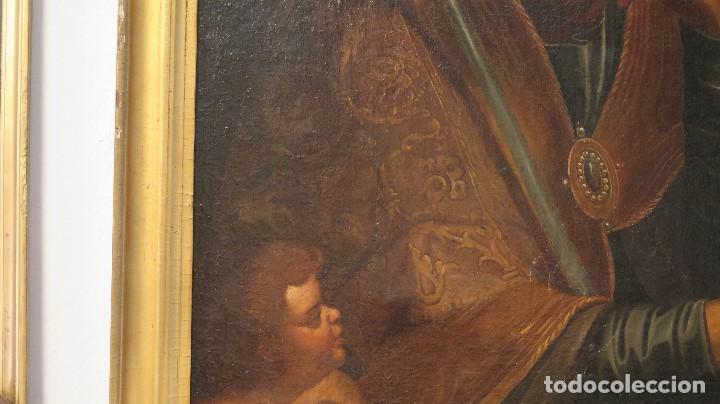 Arte: INTERESANTE SAN AGUSTIN. OLEO S/ LIENZO. MARCO DE EPOCA. SIGLO XVII-XVIII - Foto 8 - 99713391