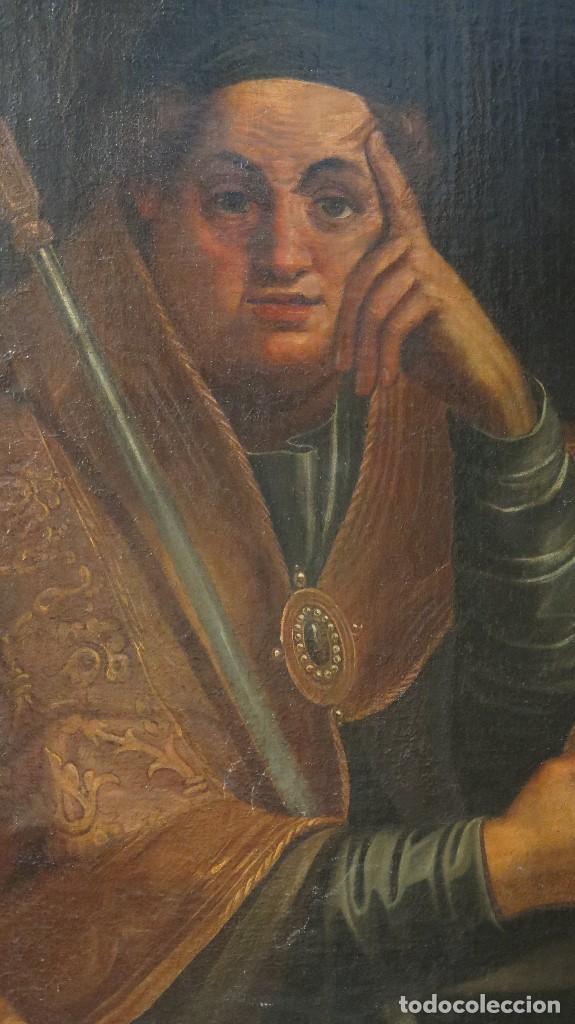 Arte: INTERESANTE SAN AGUSTIN. OLEO S/ LIENZO. MARCO DE EPOCA. SIGLO XVII-XVIII - Foto 9 - 99713391