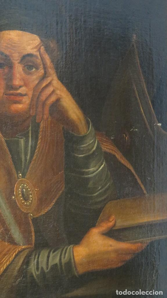 Arte: INTERESANTE SAN AGUSTIN. OLEO S/ LIENZO. MARCO DE EPOCA. SIGLO XVII-XVIII - Foto 10 - 99713391