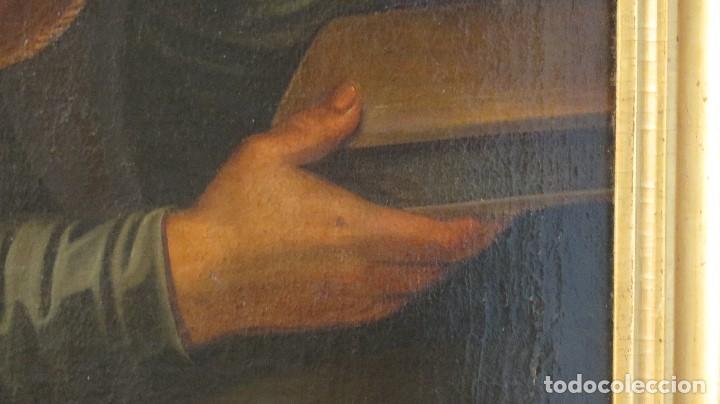 Arte: INTERESANTE SAN AGUSTIN. OLEO S/ LIENZO. MARCO DE EPOCA. SIGLO XVII-XVIII - Foto 11 - 99713391