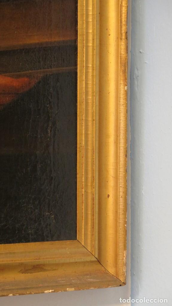 Arte: INTERESANTE SAN AGUSTIN. OLEO S/ LIENZO. MARCO DE EPOCA. SIGLO XVII-XVIII - Foto 12 - 99713391