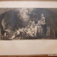 Arte: GRABADO SIGLO XIX MURILLO. LA NATIVIDAD DE LA VIRGEN. AÑO 1859. Lote 99561183