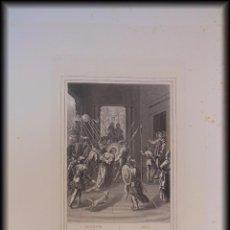 Arte: ANAS ENVIA A JESUS A CASA DE CAIFAS. 1853 ROUARGUE (GRAVEUR) ED PILON, PARIS. Lote 99783331