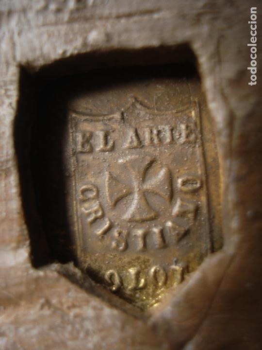 Arte: MAGNIFICA HORNACINA CON PIEDAD SELLADA DE EL ARTE CRISTIANO - Foto 2 - 99747175